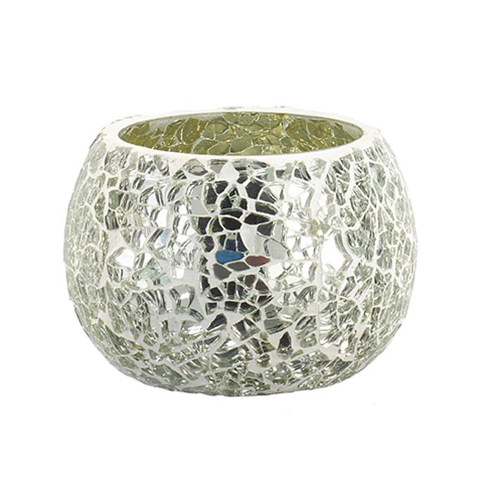 Besondere Geschenkideen aus der Region: Spiegel-Mosaik-Teelichthalter